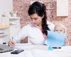 Working Mother and Her Child