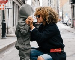 mother and child on streets of NYC